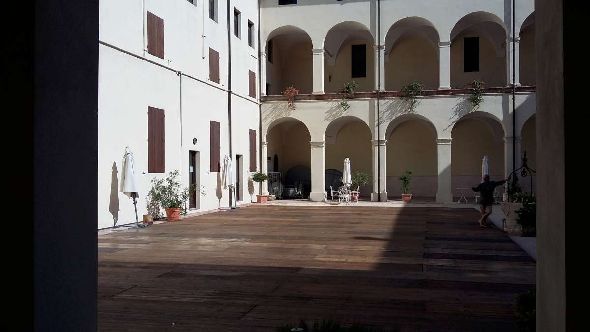 The Cistercian Abbey at Bianconese wthat houses the museum