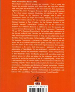 The Classical Accordion and its Repertoire back cover