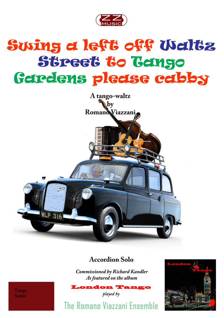 Swing a Left off Waltz Street to Tango Gardens Please Cabby - Accordion Solo Sheet Music Front Cover