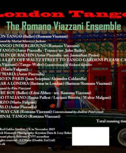London Tango CD- Back cover