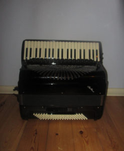 Piano Accordion with C system Free Bass Converter 41/120/55 Double Cassotto. Hand Made Reeds
