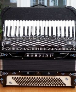 Borsini Musette 41/120 Piano Accordion (Black)
