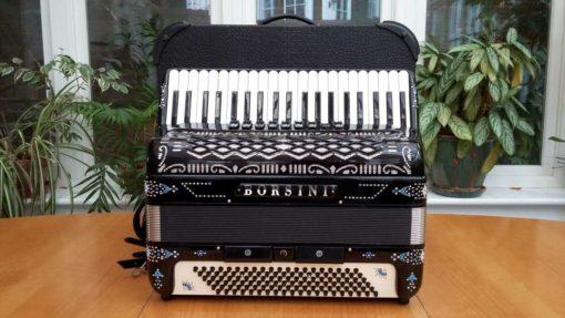 Borsini Musette 41/120 Piano Accordion (Black)