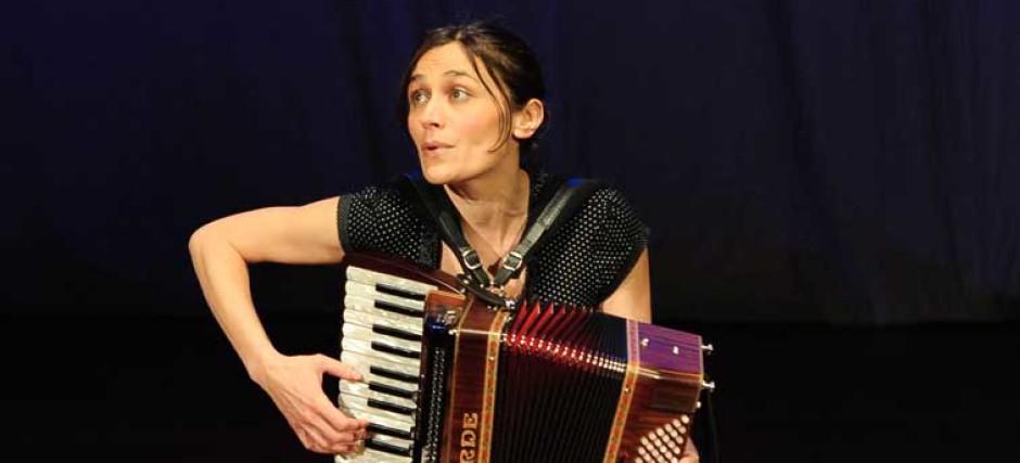 Female accordionist