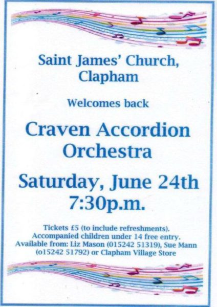 Craven Accordion Orchestra Flier