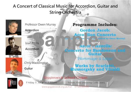 Giggleswick Concert Poster