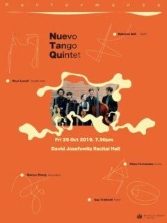 Qianyu Zhang - Nuevo Tango Quintet Flier