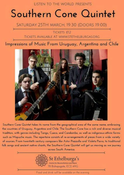 Southern Cone Quintet - St Ethelburga's Centre for Reconciliation and Peace