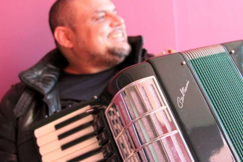 Chico Chagas and his custom-built Beltrami P26