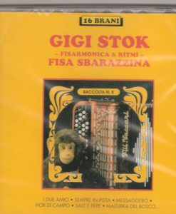 Gigi Stok -Fisa Sbarazzina Gigi Stok. The master himself and his ensemble playing some of his collaborations and duets with other accordionists: I due amici with Barimar((Stok-Barimar), Frenesia (Barimar),La dinamica (Stok),Sempre in pista (Stok) Frutto di Mare with De Marco (Stok-De Marco) Messaggero (Stok-Arnoby), Fior di campo (Stok-Arnoby-De Marco) Sale e pepe (Stok-Arnoby-De Marco), Mazurca del bosco (Stok-Arnoby) Sogno d'estate (Stok-Arnoby), Leggiarda (Stok-Arnoby), Scabroso (Benelli) Tango di Violetta (Verdi-Elab. Klose), Il grande massari (Stok-Massari), la grintona (Stok)