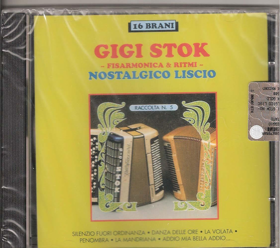 Gigi Stok - Nostalgico liscio Gigi Stok. The master himself and his ensemble playing some of his most famous transcriptions: Il Silenzio Fuori Ordinanza (Trasc. Stok-Mussini), Danza Delle Ore ((Ponchielli- Trasc. Stok -Mussini), La volata (Stok) Penombra (Stok) La mandriana (Stok) Addio mia bell addio (la dis che le' malada (Trasc. Stok-Mussini) Menestrello (Venturi), Tango Gagliardo (Stok-Monica) La Violetta la va la va (Daghela avanti un passo) (Trasc. Stok) La marcia dei bersaglieri (Trasc. Stok) Moto Perpetuo (Paganini Trasc. Stok) Stelle e Striscie (Sousa-Trasc. Stok) Lo studente passa (Ibanez), Ici Montecarlo (B. Clair), Violino Tzigano (Bixio) Aliante (Stok)