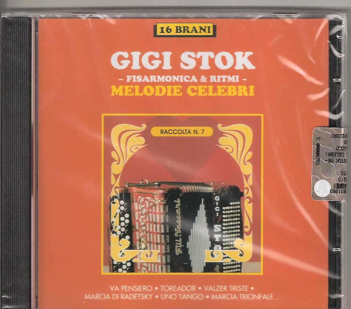 Gigi Stok - Melodie Celebri Gigi Stok. The master himself and his ensemble playing some famous pieces: Va Pesiero Nabucco(Verdi- Elab. Stok-Mussini), Toreador Carmen(Bizet- Elab. Stok -Mussini), Valse Triste (Sibelius) Marcia di Radetzsky (Strauss- Elab.Stok-Mussini) Uno Tango (Mabes) Marcia Trionfale Aida (Verdi-Elab. Stok-Mussini) Cuore e Fisarmonica (De Marco -Stok), Gioiosa (Stok-Casmatti) L'Indiavolata (Stok) La Doccia (Capitani Elab. Stok) Tesoro Mio (Becucci- Elab. Stok) Giocando sui tasti (Stok) Rimpianto (Stok-Concu), Amigos (Stok),Valzer di Ponente (Stok-Nico Rosa) La Spavalda (Stok-P. Piacentino