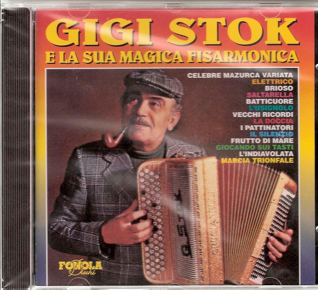Gigi Stok e la sua Magica Fisarmonica Gigi Stok. The master himself and his ensemble playing some of his greatest hits: Elettrico (Stok), Brioso (Stok), Saltarella (Stok), Batticuore (Nicolucci) Silenzio Fuori Ordinanza (Stok-Mussini), Vecchi Ricordi(Stok), La Doccia (Capitani-Stok), Celebre Mazurka Variata (Migliavacca/Stok)I Pattinatori (Waldteufel), L'Usignolo (Julien), Frutto di Mare (Stok/De Marco), Giocando Sui Tasti (Stok), L`Indiavolata (Stok) Marcia Trionfale from Aida (Verdi- Stok/Mussini)