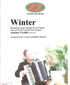 The first movement of Winter from Antonio Vivaldi's The Four Seasons transcribed for Free Bass accordion