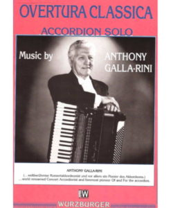12-pages of techniaclly difficult music by the American Master himself Anthony Galla-Rini. For Standard-bass accordion.