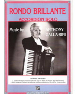 8-pages of music for advance standard-bass accordionists by the famous American master Anthony Galla-Rini.