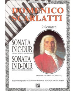 2 Sonatas by Domenico Scarlatti, cleverly arranged for standard bass accordion. The Sonata in C Major K.159 and the Sonata in D major K436