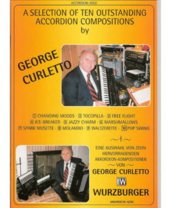 An album of 10 pieces from Jazz and Musette to Latin American and Swing by George Curletto in a 38 + page book.. Changing Moods Tocopilla Free Flight Ice-breaker Jazzy Charm Marshmallows Spark Musette Molambo Walzerette Pop Swing