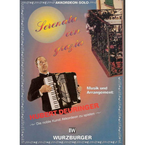 A solo accordion piece of intermediate to advanced standard. 5 - pages of music for Standard Bass Accordion by the German Maestro
