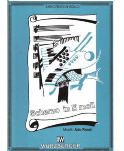 Six pages of fun in this Scherzo by Ado Rossi for the intermediate/advanced standard-bass accordionist. Includes a short fugal section and a short swing section.